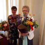Boekpresentatie Ria en ik met mooie bloemen