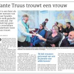 DvhN artikel Tante Truus trouwt 19042017